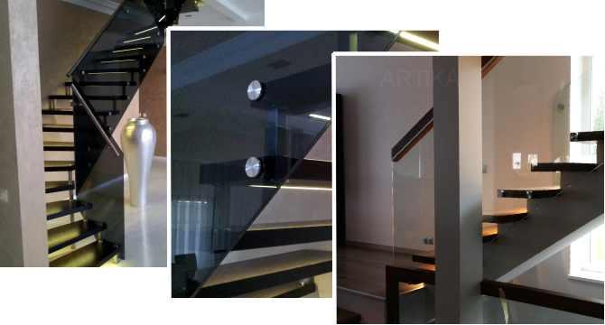 trepipiirded klaas punktkinnitusega