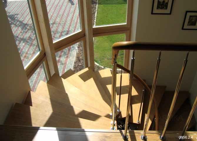 käiguga trepp piire roostevaba teras